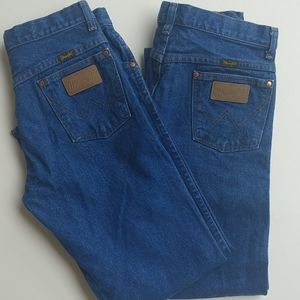 Two Pair of Boys Western Style Wrangler Jeans
